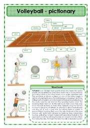 Printables Volleyball Worksheets english teaching worksheets volleyball pictionary