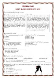 English Worksheets: Problem Page