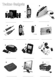 English Worksheet: new techno gadgets