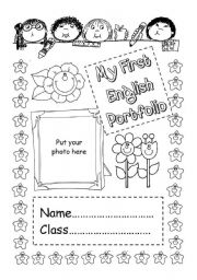 English Worksheet: My first English portfolio - cover