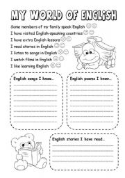 English Worksheet: My first English portfolio - Page 2