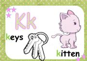 English Worksheet: ALPHABET FLASH CARDS ****** K- O ****** 3/5