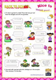 English Worksheet: Personal Identification  - Asking basic questions  (1/2)