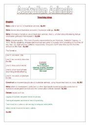 English Worksheet: Australian Animals - teaching ideas