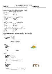 Printables English Test Grade  2 english worksheets grade 2 esl test 4 pages worksheet pages