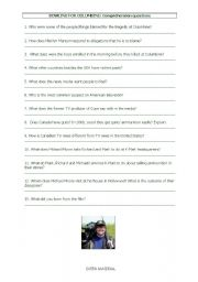 English Worksheet: Bowling for columbine questions