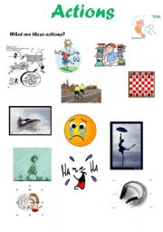English Worksheets: Actions - Part 1