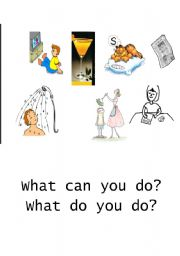 English Worksheets: Actions - Part 2