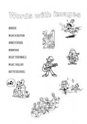 English Worksheets: words with images