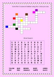 Crossword and Word Search - Colours
