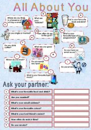 English Worksheets: All About You