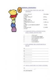 English Worksheets: QUESTIONS, QUESTIONS!