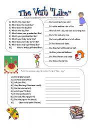 ESL worksheets for beginners: The Verb Like