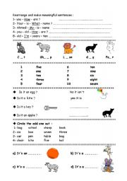 English Worksheets: simple exercises