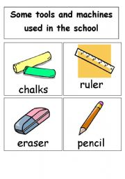 school tools (14cards in one set)