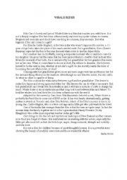 English Worksheets: WHALE RIDER, NEW ZEALAND