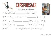 English Worksheets: CAPS FOR SALE Comprehension Task