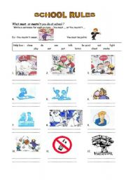 School Rules Worksheets Worksheets for all | Download and Share ...