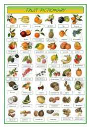 English Worksheet: Fruit - pictionary