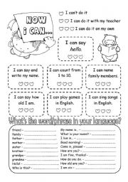 English Worksheets: My first English portfolio - Page 8