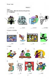 English Worksheets: Lexis