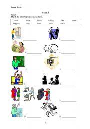 English Worksheets: Actions