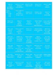 English Worksheets: Questions chart