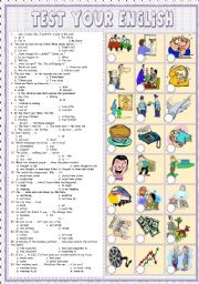English Worksheets: Test  your English 4