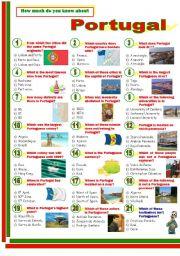 English Worksheet: Portugal