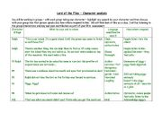 English Worksheets: character analysis and quote grid - completed teacher�s copy