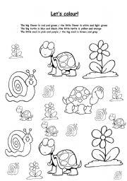 English worksheet: let´s colour! (big/little)