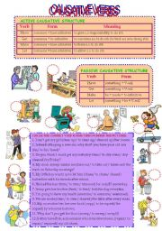 CAUSATIVE VERBS (active and passive structures)