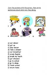 English Worksheets: Presente continuous