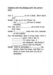 English Worksheets: Present Simsple
