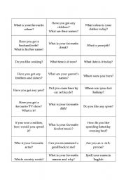 English Worksheets: Get to know each other