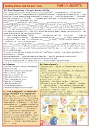 Revising articles and simple past