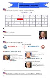 English Worksheets: US elections