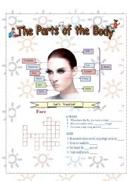 English Worksheets: parts of the body: II part