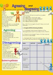 English Worksheet: Agreeing and disagreeing