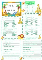 English Worksheet: TO BE - present simple