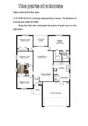The floor plan and parts of a house