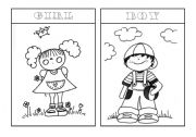 English Worksheets: girl and boy