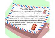 English Worksheets:   The letter box key!