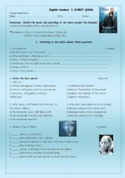 English Worksheet: I, ROBOT (the movie)
