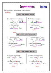 English Worksheet: Compound Adjectives