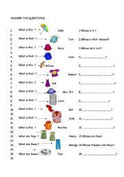 Dialogue clothes exercises