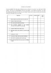 english teaching worksheets error correction. Black Bedroom Furniture Sets. Home Design Ideas