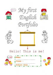 English Worksheet: Portfolio - beginners - cover page