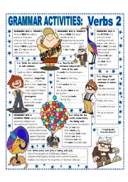 English Worksheet: VERBS (2/2) EASY GRAMMAR REFERENCE & ACTIVITIES