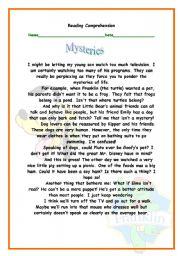 English Worksheets: Mysteries